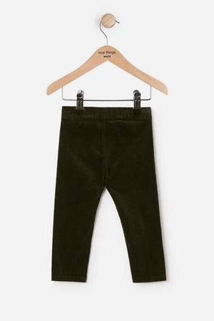 Nice Things Mini Velvet Girls Pants