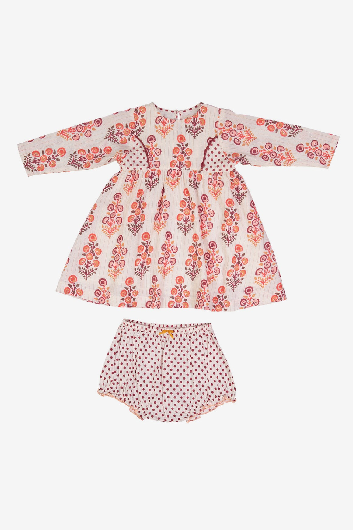 Pink Chicken Larkin Dress Set - Angora White Geo/Dot