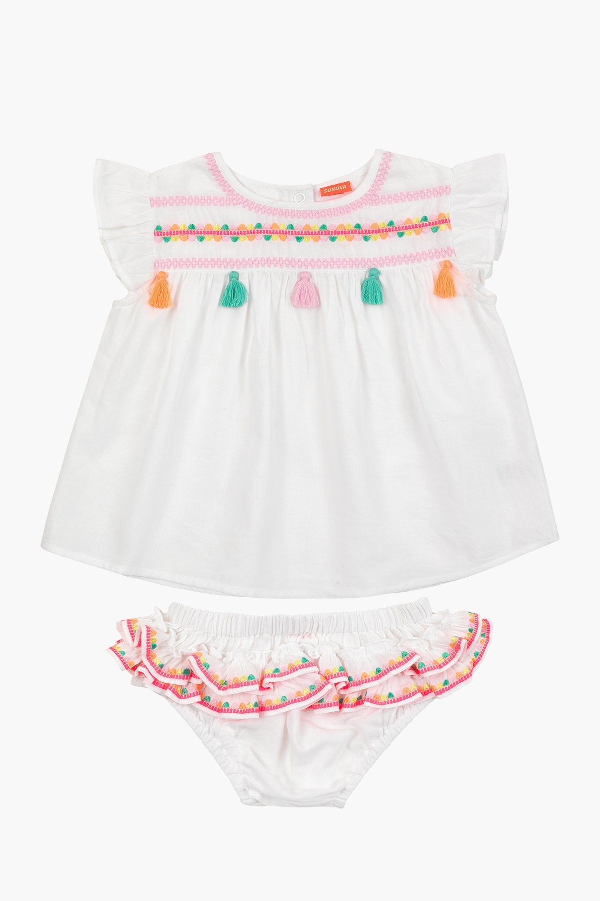 Sunuva Embroidered Baby Girls Set