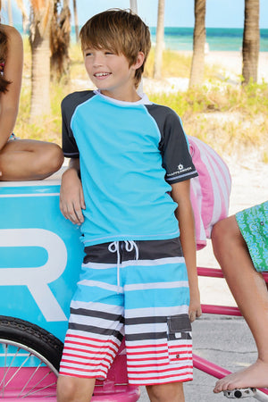Stripe Board Shorts