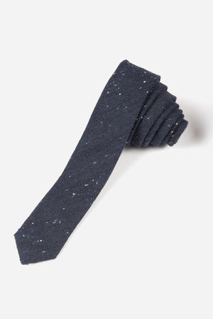 Appaman Tie - Navy Speckle Herringbone