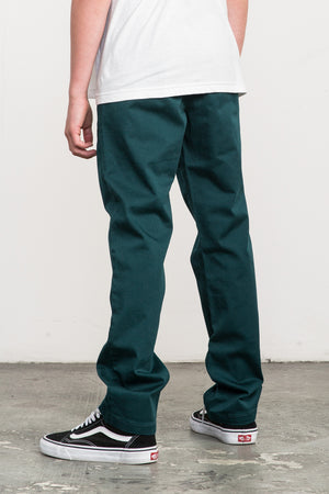 RVCA Weekday Stretch Pant - Dark Forest