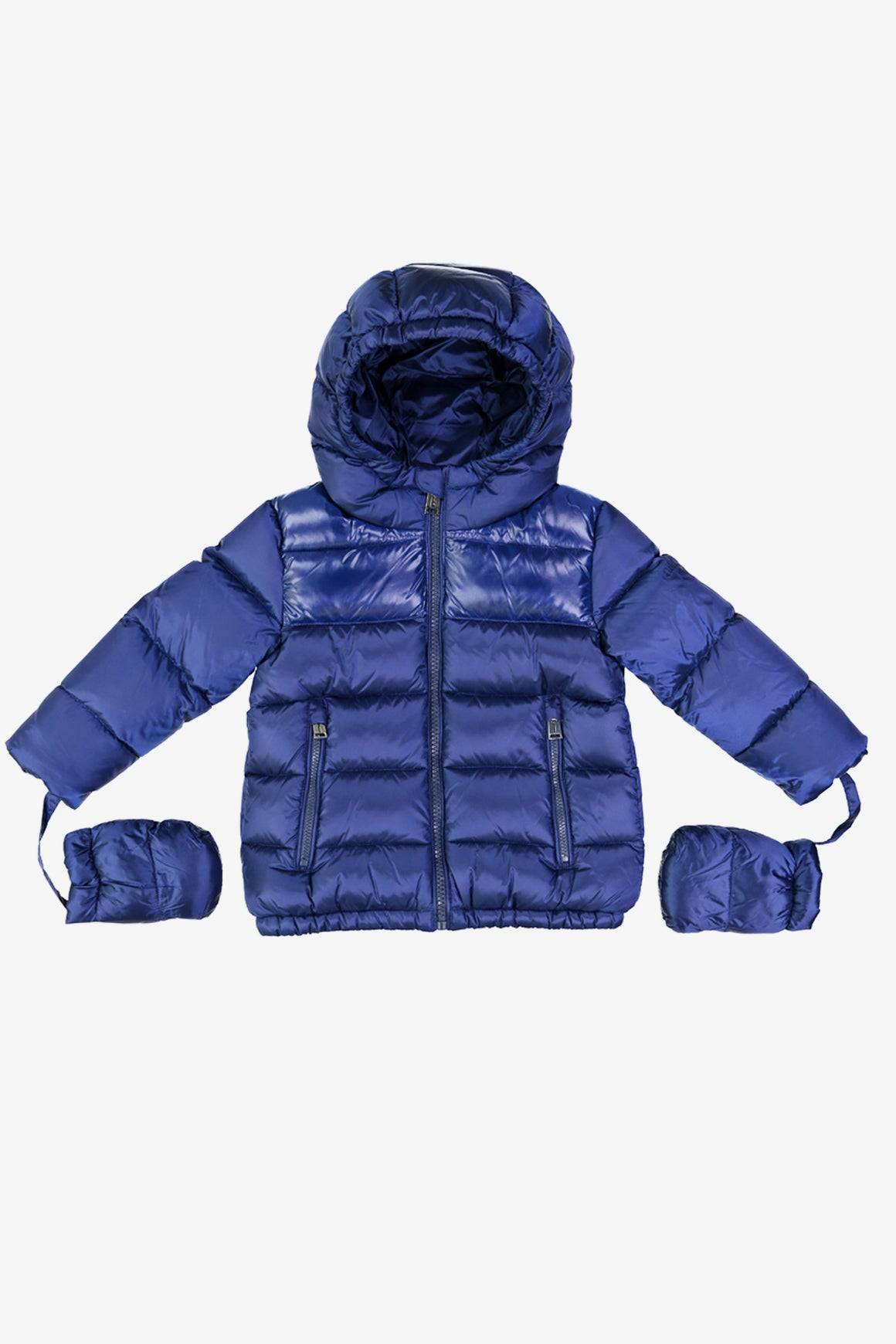ADD Down Baby Boy Jacket with Mitts in Sapphire Blue