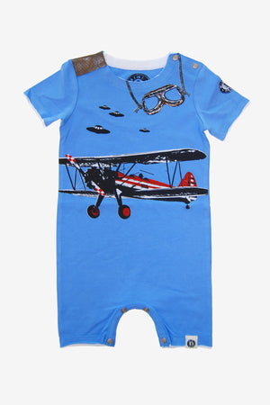 Mini Shatsu Vintage Airplane Romper