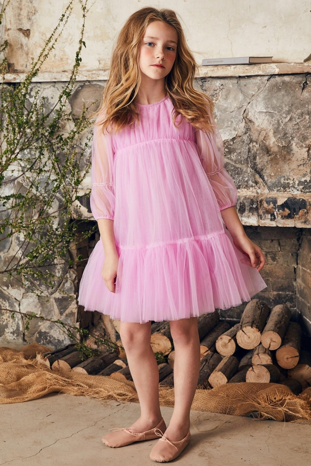 Nellystella Alice Girls Dress - Sweet Pea