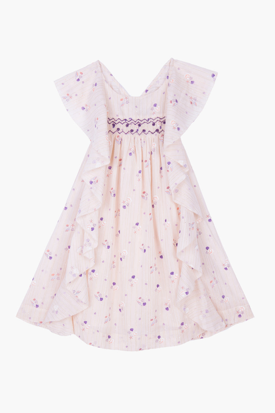 Velveteen Amber Seashell Girls Dress