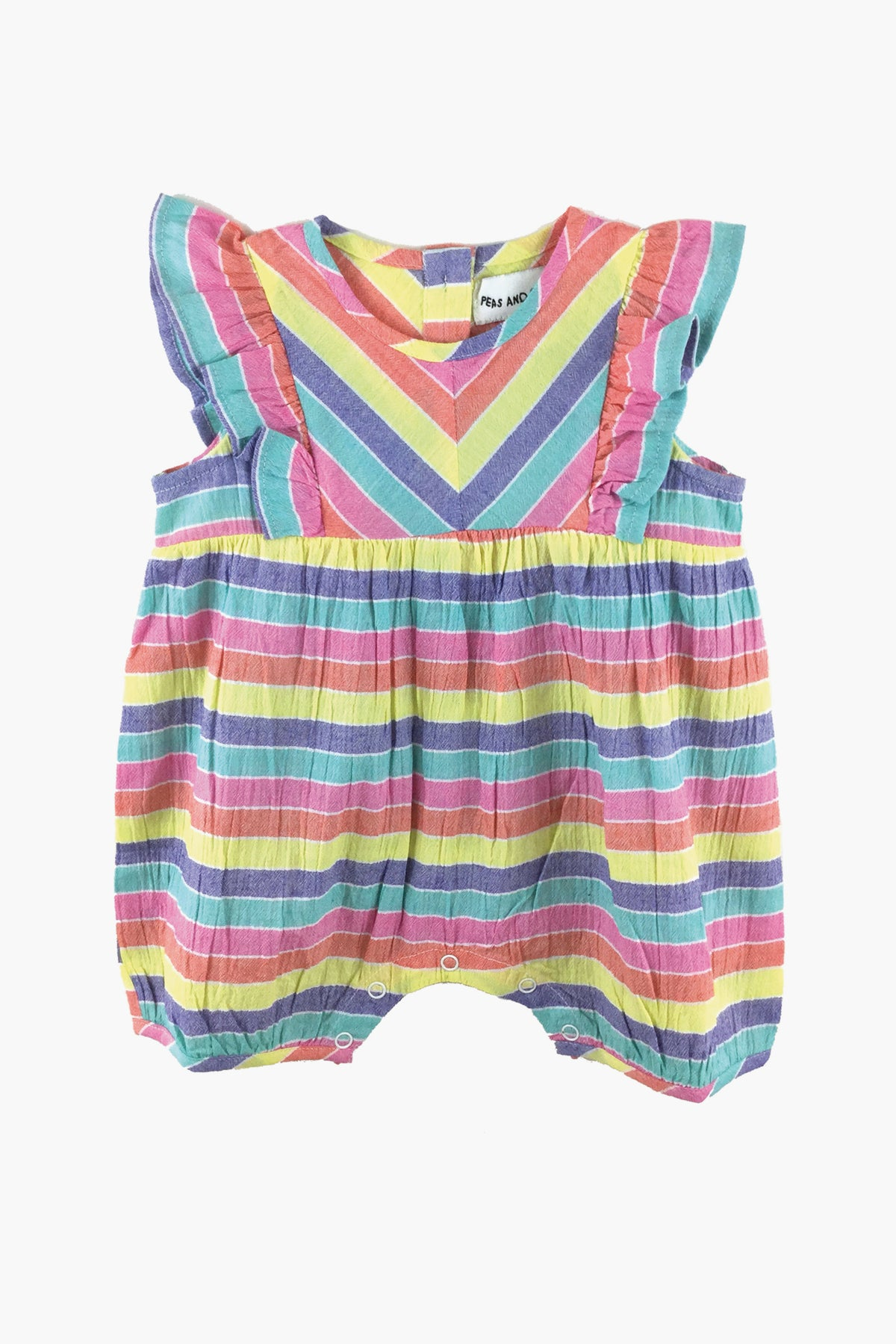 Peas and Queues Anne Baby Girls Romper
