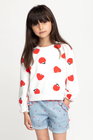 Billieblush Apple Girls Sweatshirt