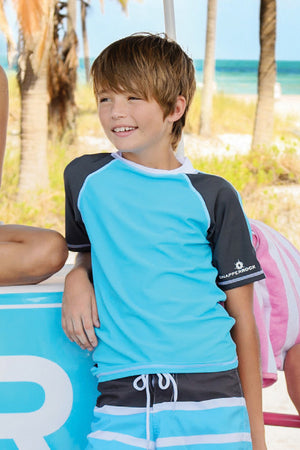 Sea Blue Rash Guard