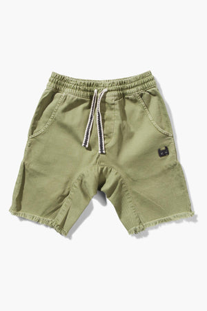 Munster Kids Atlantic Denim Boys Shorts - Washed Olive
