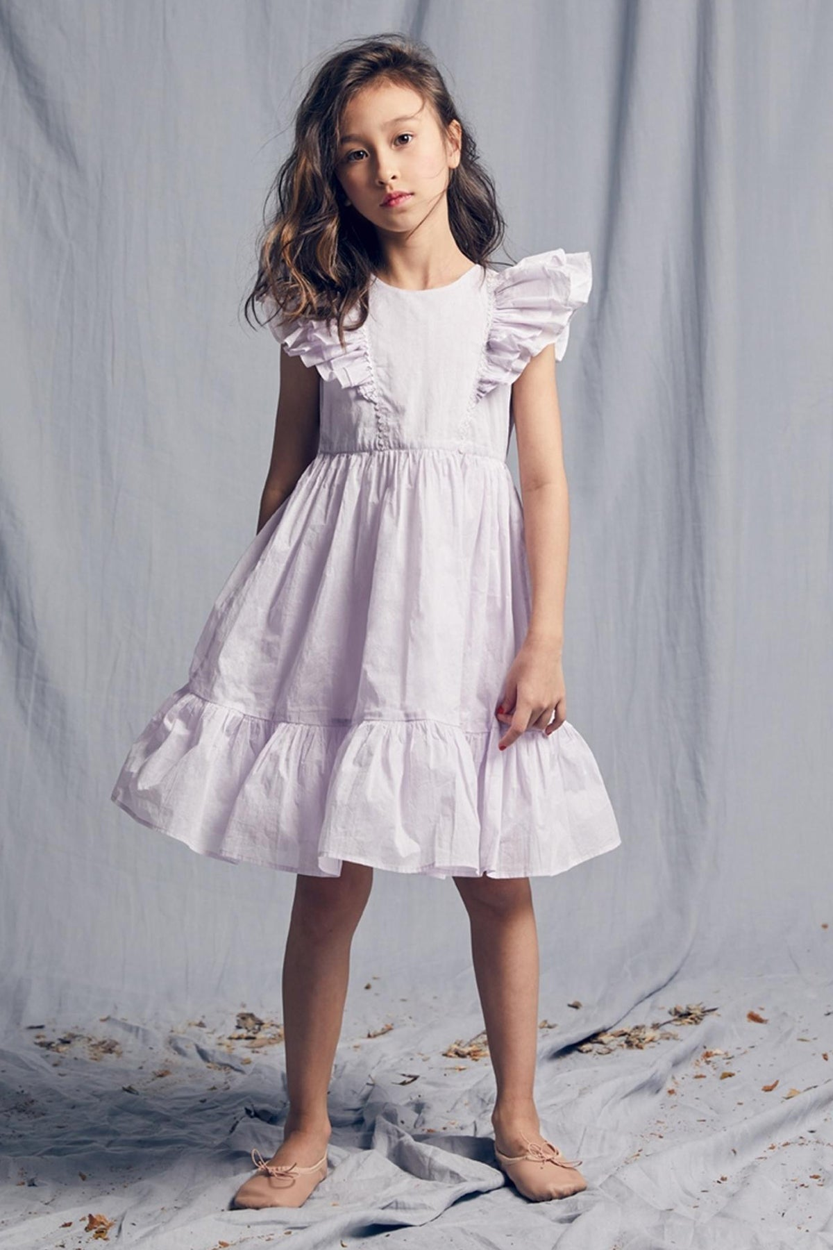 Nellystella Aurelia Girls Dress - Thistle