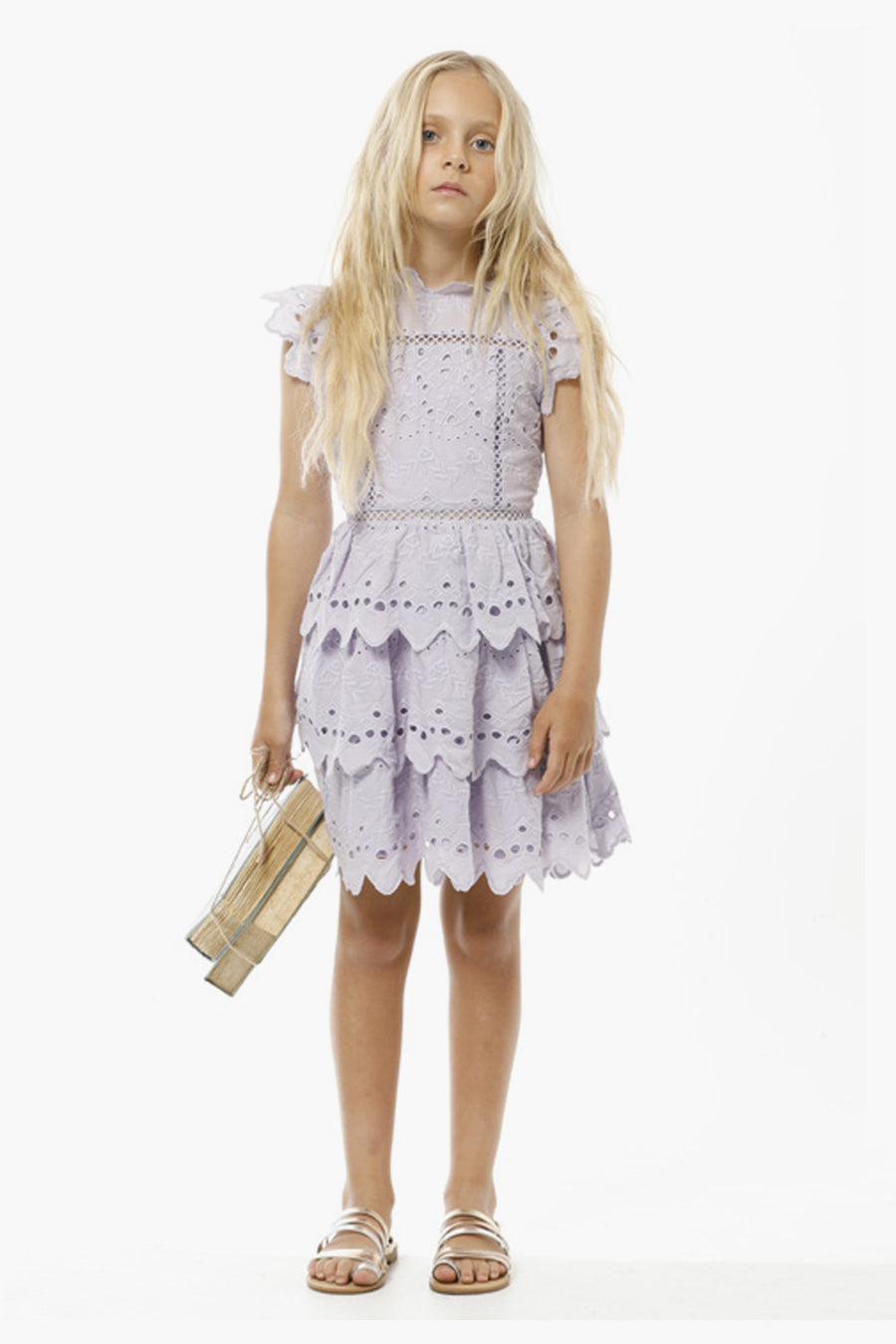 Marlo Ava Mini Girls Dress - Lavender