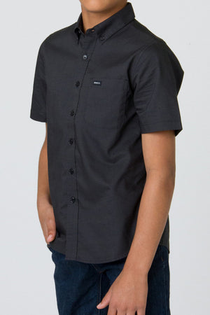 RVCA That'll Do Oxford Short Sleeve Boys Shirt - Black