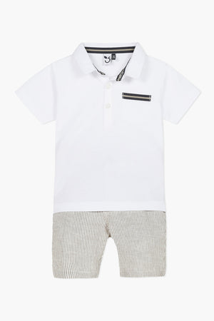 3pommes Baby Boys Polo 2-Piece Set