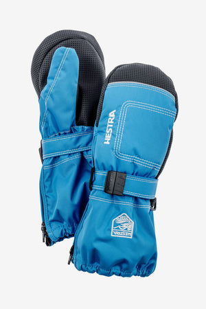 Hestra Baby Zip Long Mitt - Blue