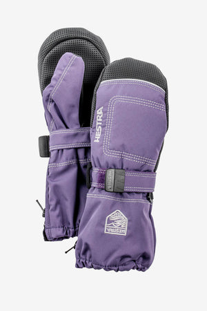 Hestra Baby Zip Long Mitt - Purple