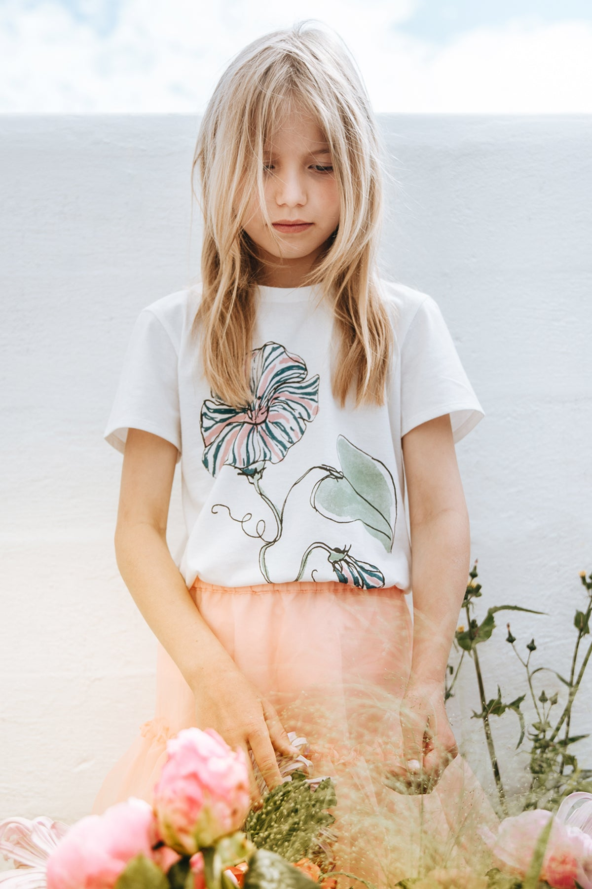 Soft Gallery Bass Girls T-Shirt - Primrose