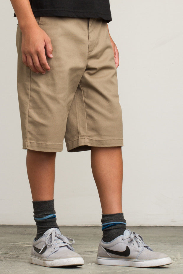 RVCA Weekday Shorts - Dark Khaki