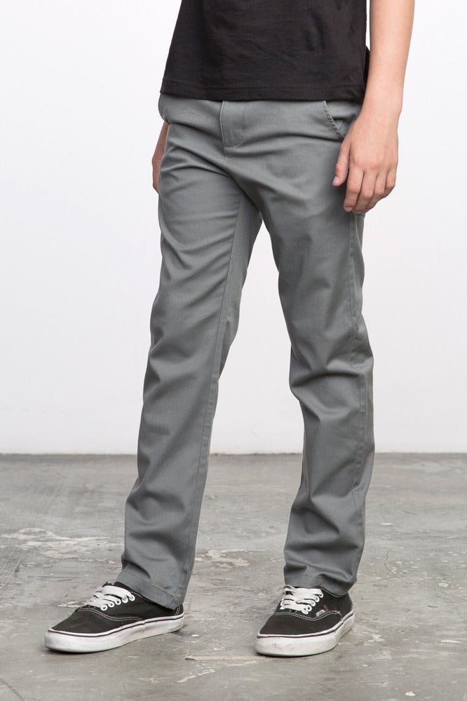 half off 5c8d0 5562f RVCA Weekday Pants - Smoke - Mini Ruby