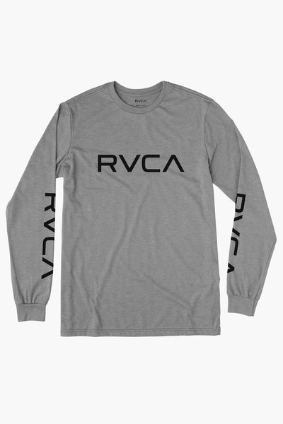 RVCA Big Rvca Long Sleeve Boys T-Shirt - Grey