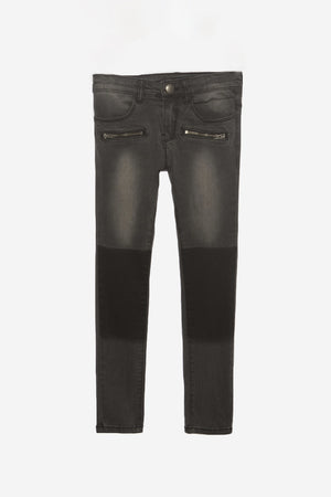 IKKS Black Patch Jeans
