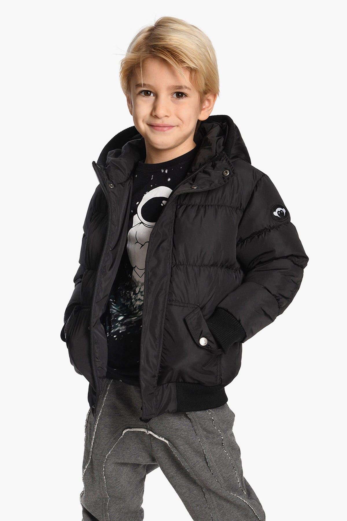Appaman Black Puffy Boys Coat