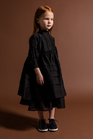 OMAMImini Layered Voile Dress - Black
