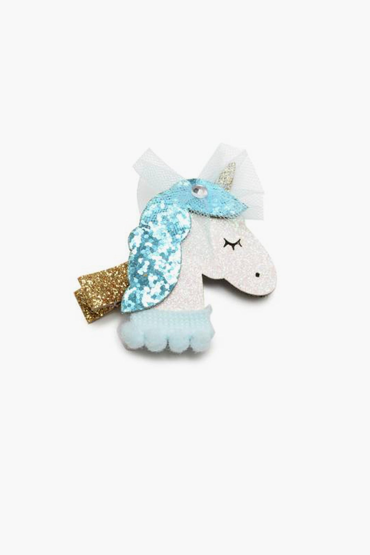 Blue Unicorn Hair Clip