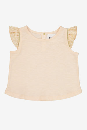 Blune Blush Ruffle Sleeve Top