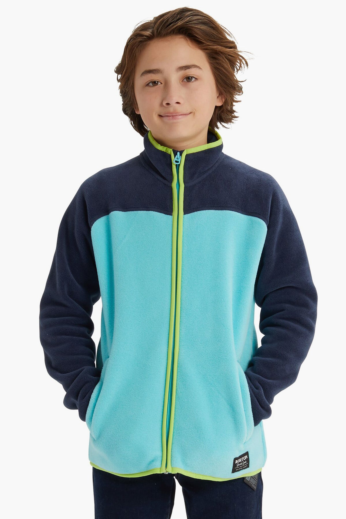 Burton Boys Spark Collar Full-Zip Fleece Jacket