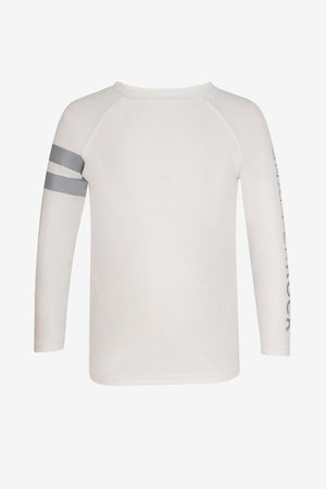 White Long-Sleeve Boys Rash Guard