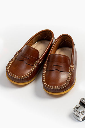 Elephantito Alex Drivers Boys Shoes - Natural