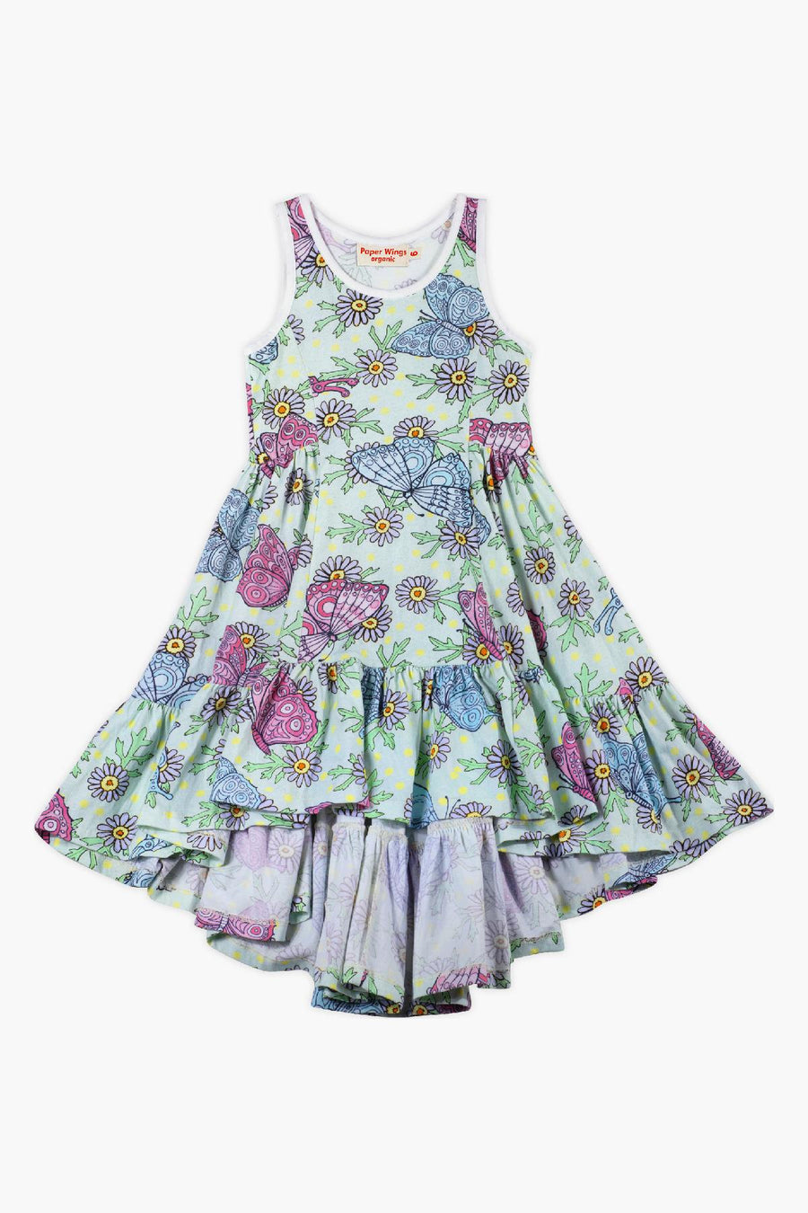 Paper Wings Butterfly Daisies Girls Dress