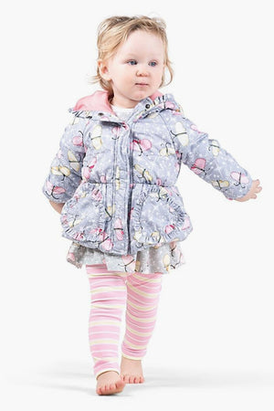 Paper Wings Butterfly Sparkle Puffer Jacket