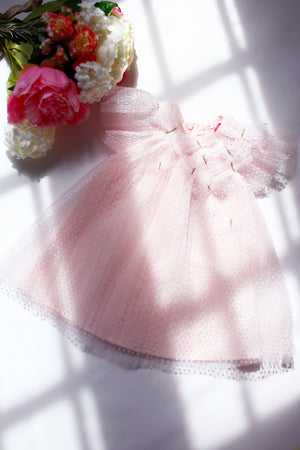 Lili Gaufrette Butterfly Tulle Baby Dress