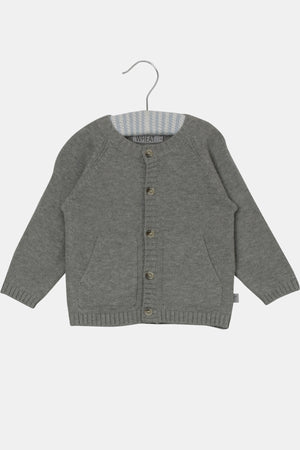 Wheat Baby Cardigan in Grey