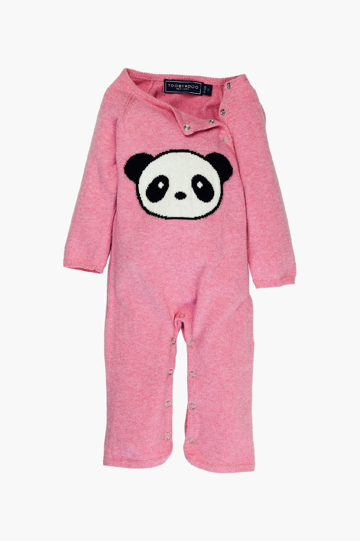 Toobydoo Cashmere Panda Jumpsuit - Pink