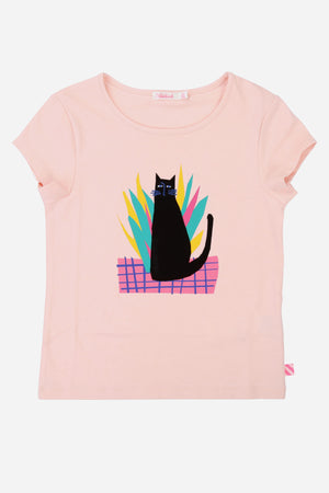 Billieblush Black Cat Tee