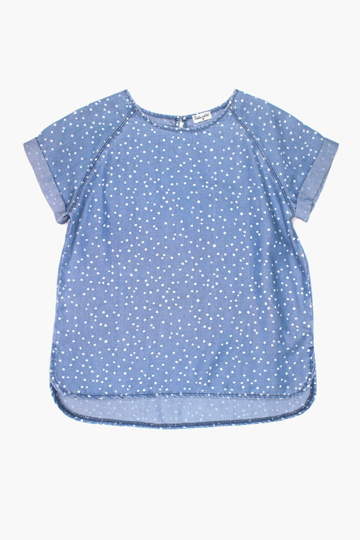 Splendid Chambray Dot Girls Top