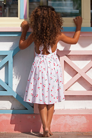 Sunuva Cherries Pinafore Girls Dress