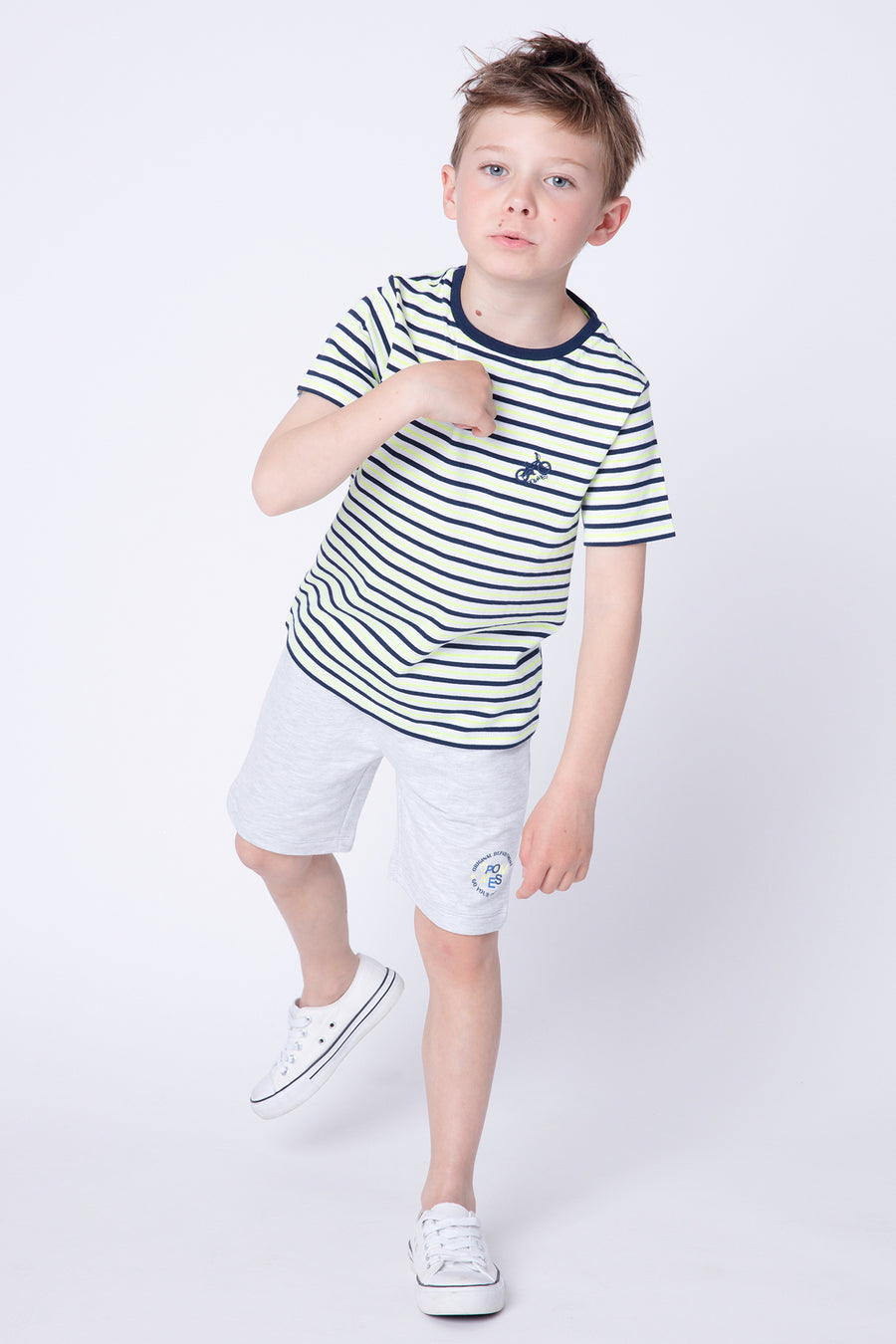 3pommes Citron Striped Boys Shirt