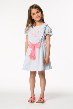 Billieblush Blue Stripe Girls Dress