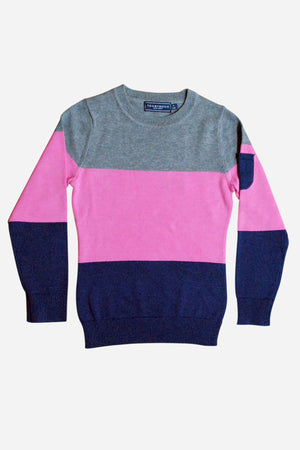 Toobydoo Girls Colorblock Sweater