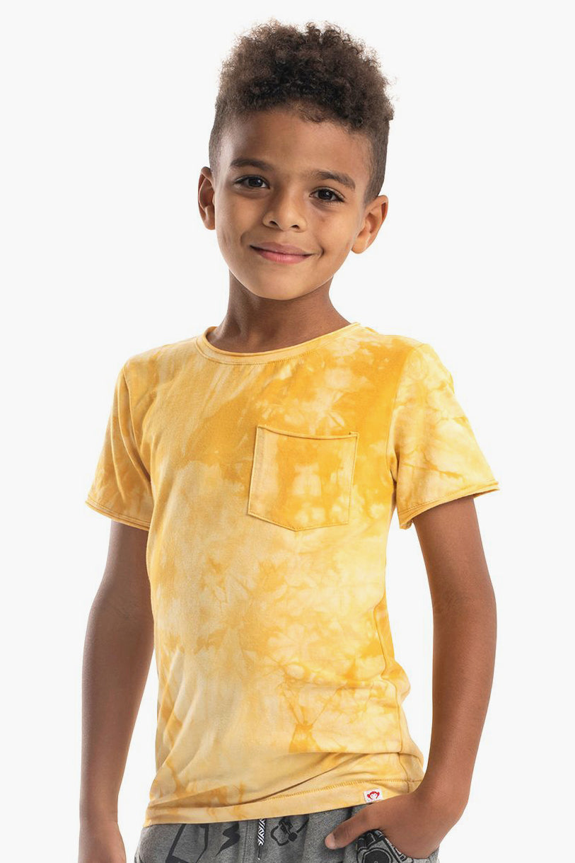 Appaman Concert Baby Boys Shirt - Lemon Tie Dye