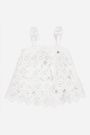 Lili Gaufrette White Cotton Top