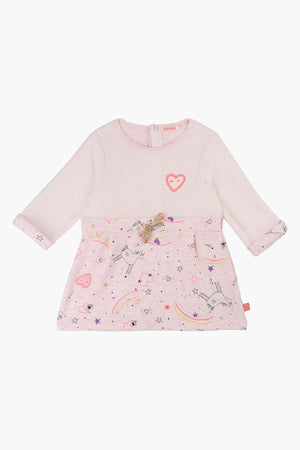 Billieblush Cream Pink Heart Dress
