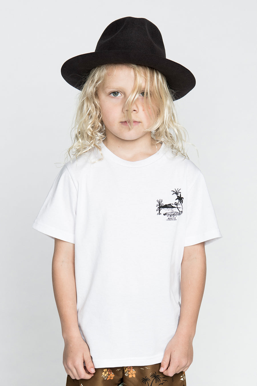 Munster Kids Croc Island Boys T-Shirt - White