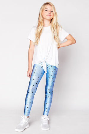 Terez Denim Stars Girls Leggings