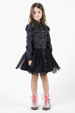 Billieblush Denim Tulle Girls Dress