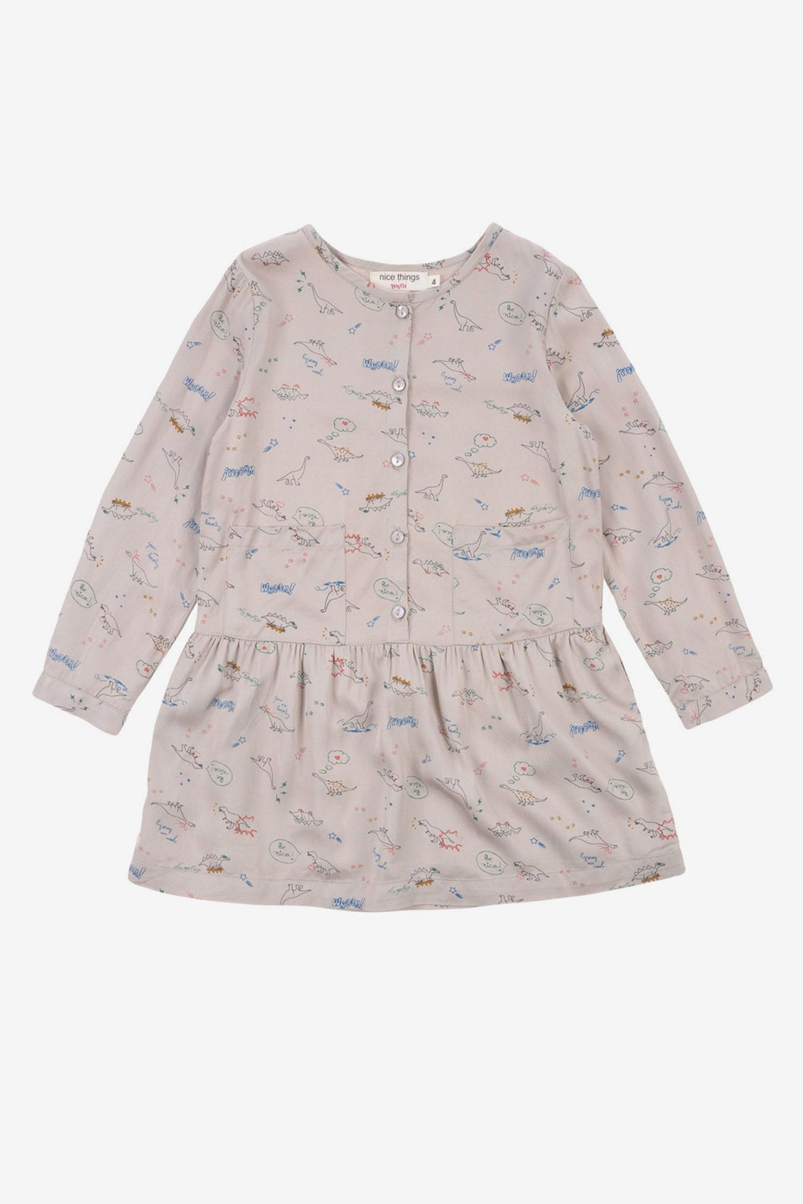 Nice Things Mini Dinosaur Girls Dress